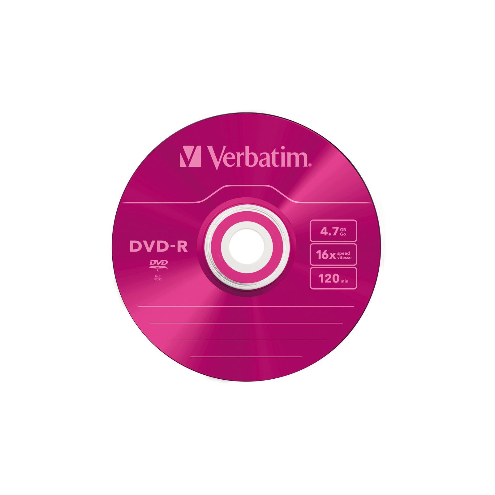 Диск DVD Verbatim 4.7Gb 16X Slim case 5 шт Color (43557) изображение 4