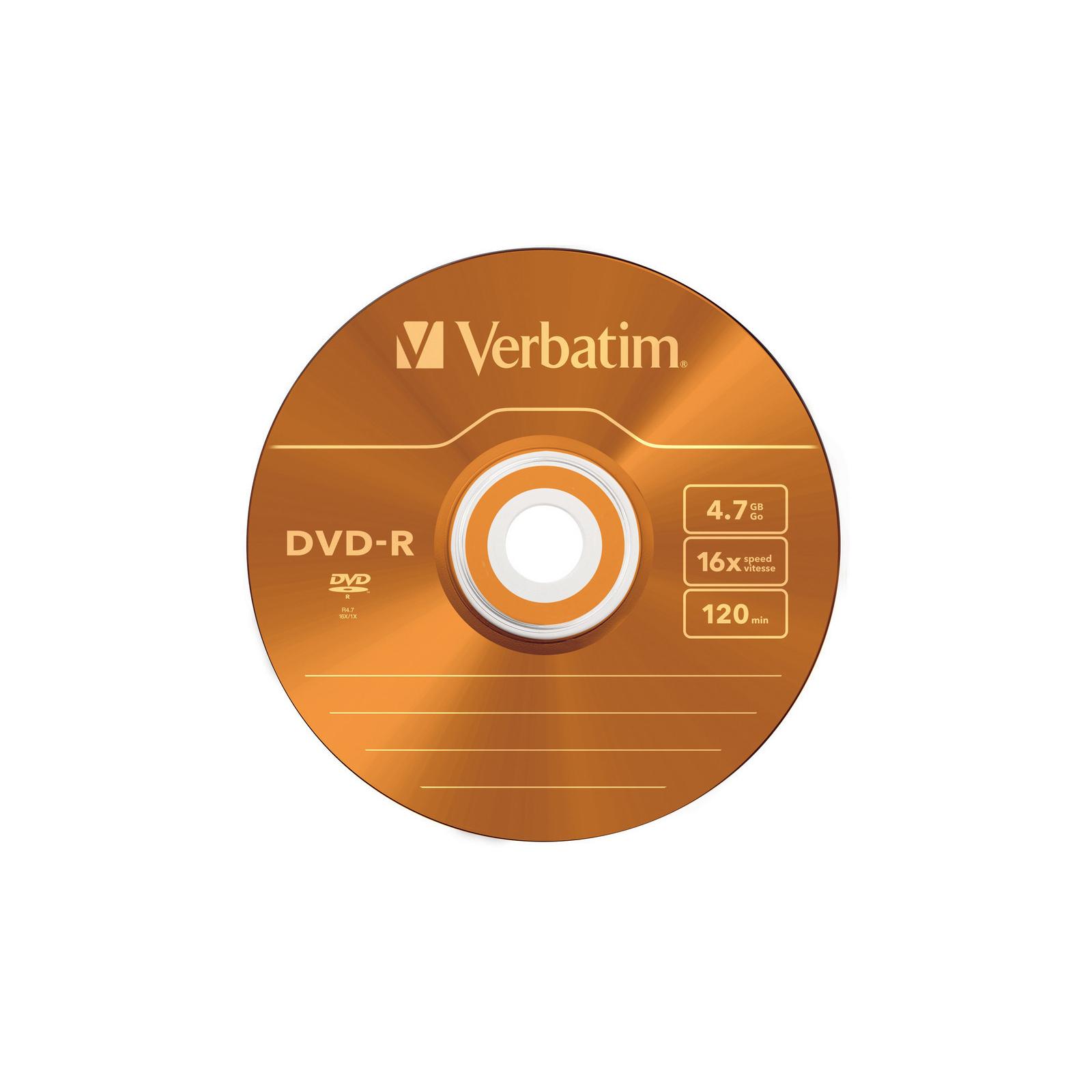 Диск DVD Verbatim 4.7Gb 16X Slim case 5 шт Color (43557) изображение 5
