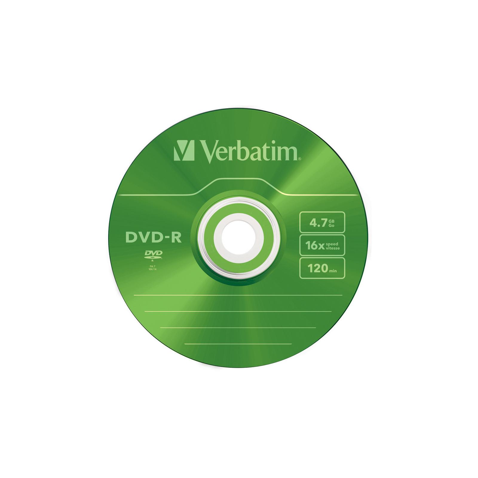 Диск DVD Verbatim 4.7Gb 16X Slim case 5 шт Color (43557) изображение 6