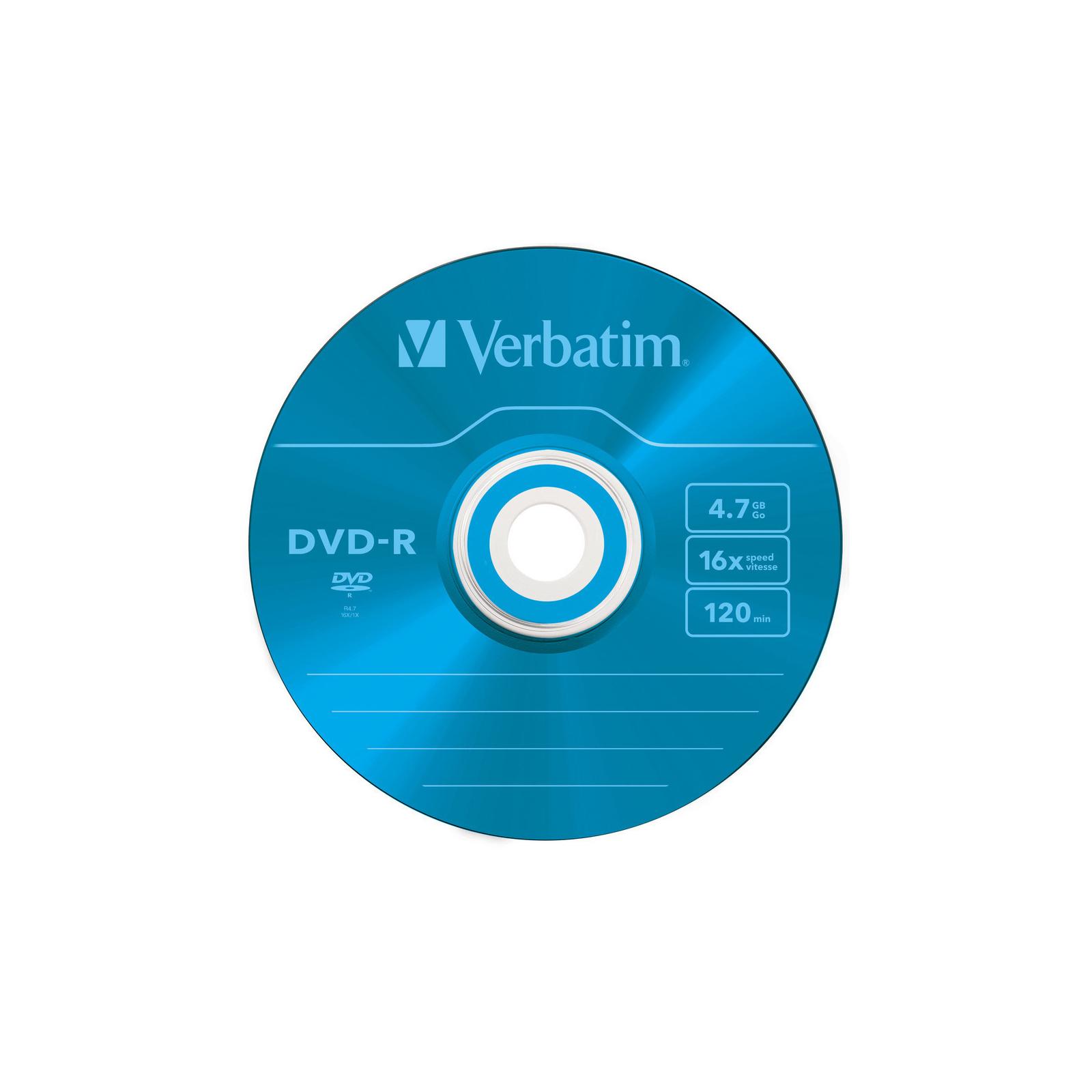 Диск DVD Verbatim 4.7Gb 16X Slim case 5 шт Color (43557) изображение 7