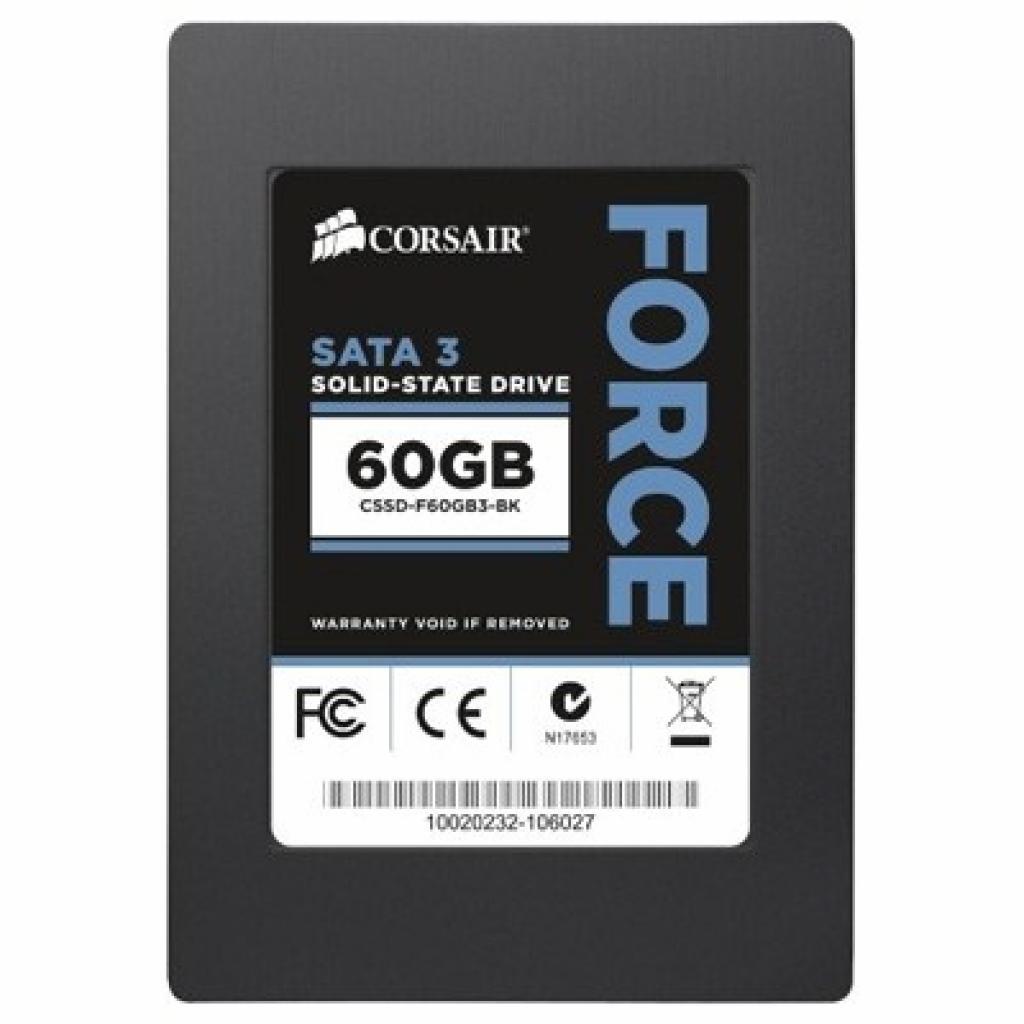 """Накопитель SSD 2.5""""  60GB CORSAIR (CSSD-F60GB3A-BK)"""