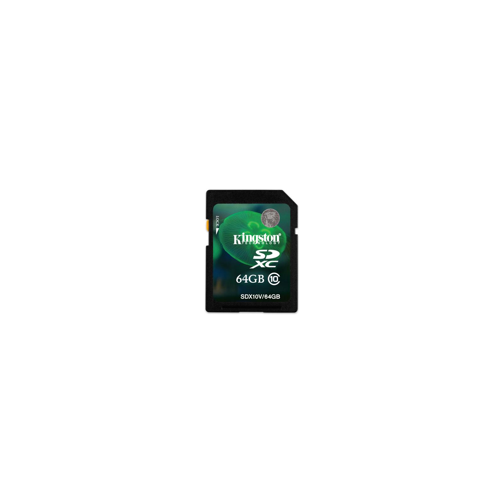 Карта памяти Kingston 64Gb SDXC class 10 (SDX10V/64GB)