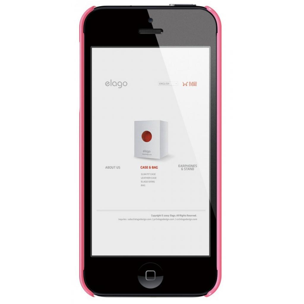Чехол для моб. телефона ELAGO для iPhone 5 /Slim Fit 2 Glossy/Pink (ELS5SM2-UVHPK-RT) изображение 2