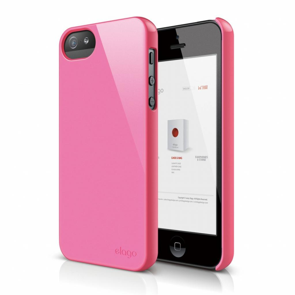 Чехол для моб. телефона ELAGO для iPhone 5 /Slim Fit 2 Glossy/Pink (ELS5SM2-UVHPK-RT)