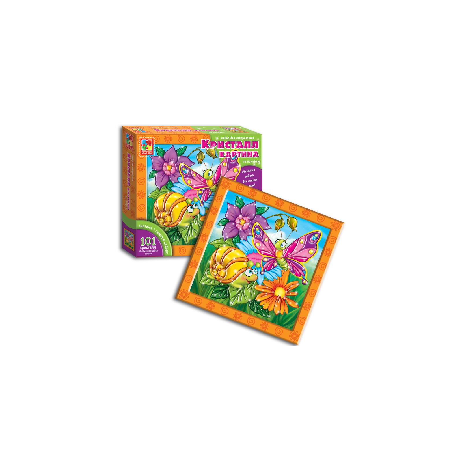Набор для творчества Vladi Toys Кристалл картина Бабочка и улитка (VT4010-03) изображение 3