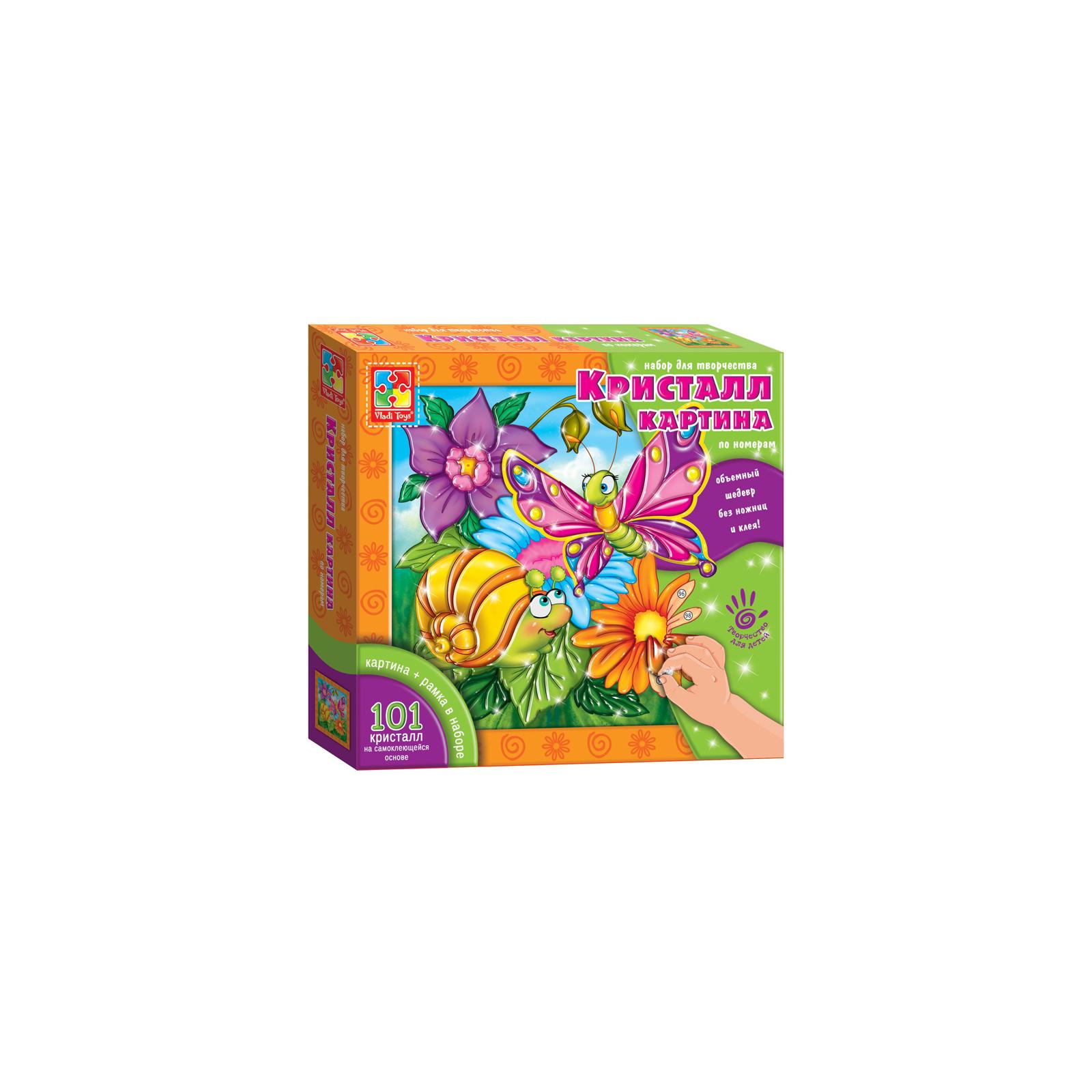 Набор для творчества Vladi Toys Кристалл картина Бабочка и улитка (VT4010-03)