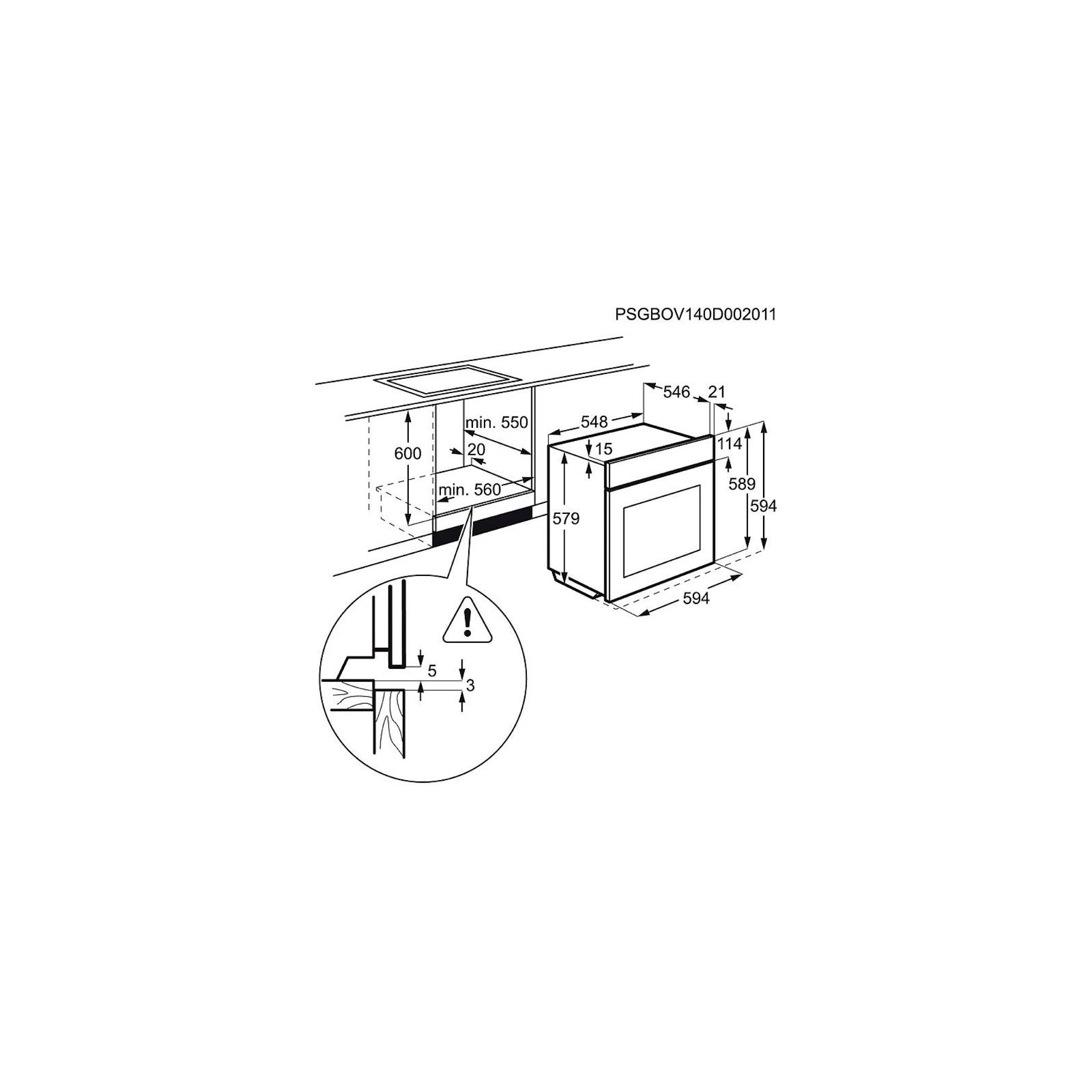 Духовой шкаф ELECTROLUX EOA 95551 AV (EOA95551AV) изображение 2