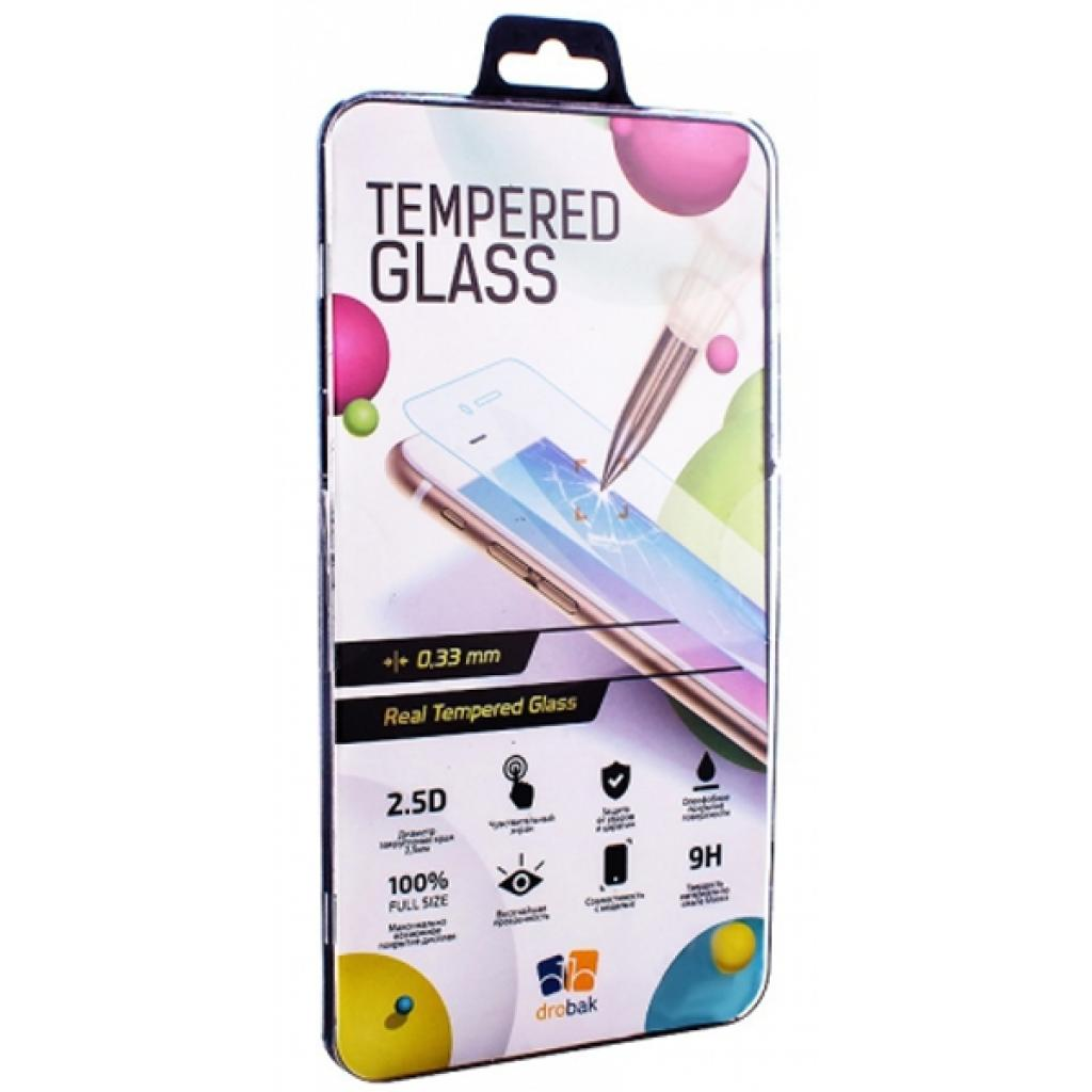 "Стекло защитное Drobak Universal 4"" Tempered Glass (508701)"