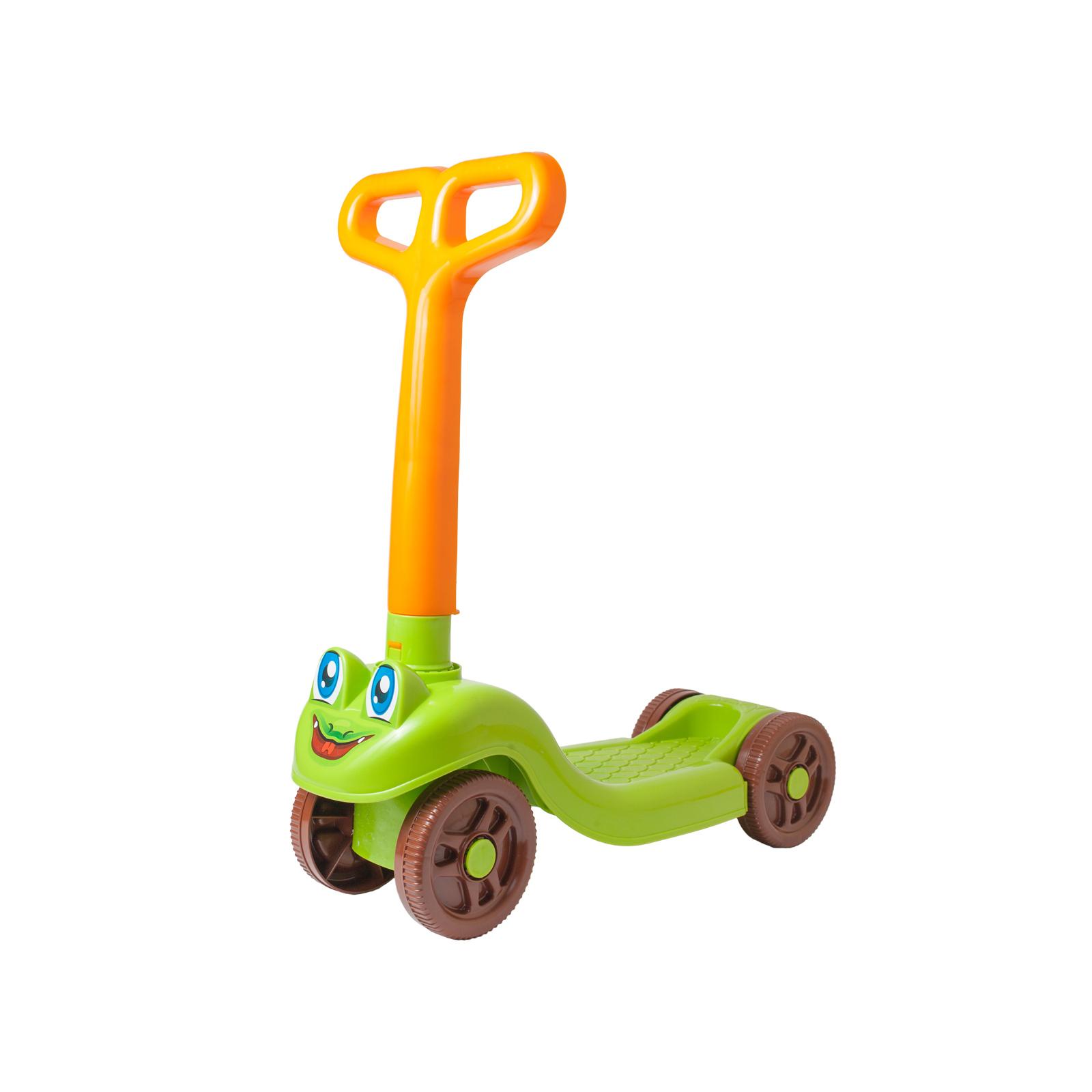 Скутер Технок Зеленый с желтым (3473)