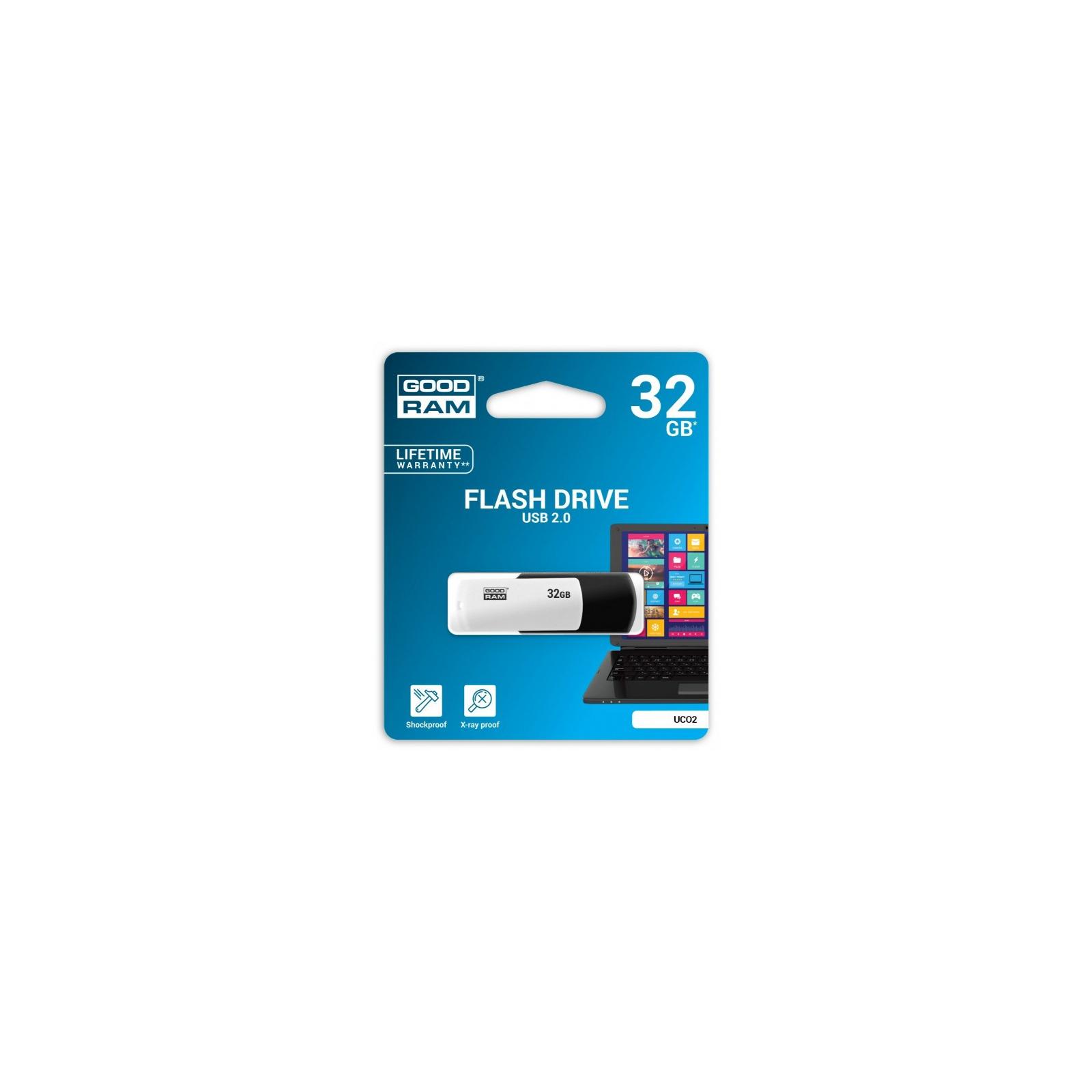 USB флеш накопитель Goodram 16GB UCO2 (Colour Mix) Black/White USB 2.0 (UCO2-0160KWR11) изображение 2