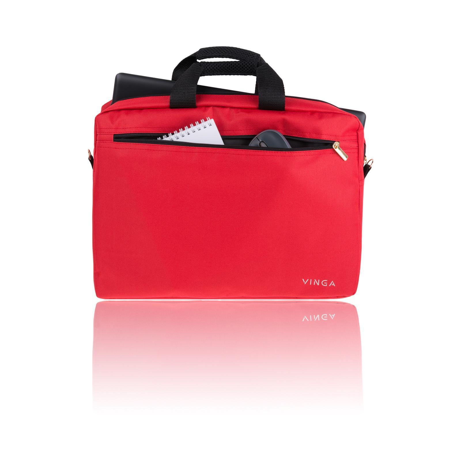 """Сумка для ноутбука Vinga 15.6"""" NB110RD red (NB110RD) изображение 3"""