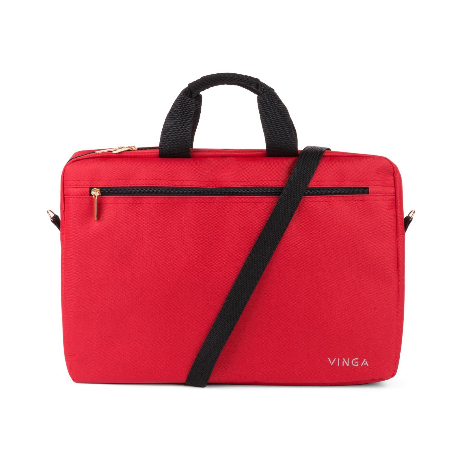 """Сумка для ноутбука Vinga 15.6"""" NB110RD red (NB110RD) изображение 4"""
