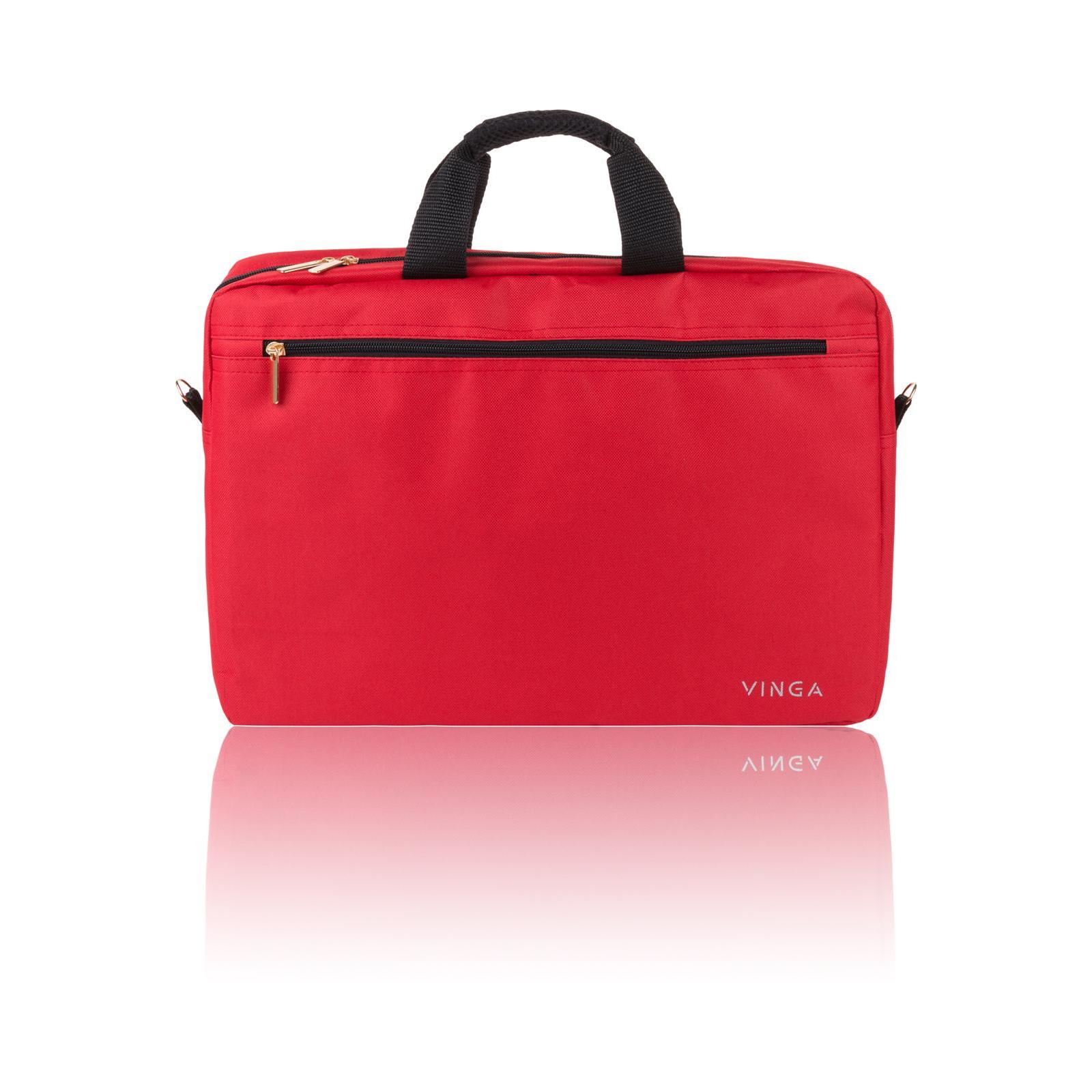 """Сумка для ноутбука Vinga 15.6"""" NB110RD red (NB110RD) изображение 5"""