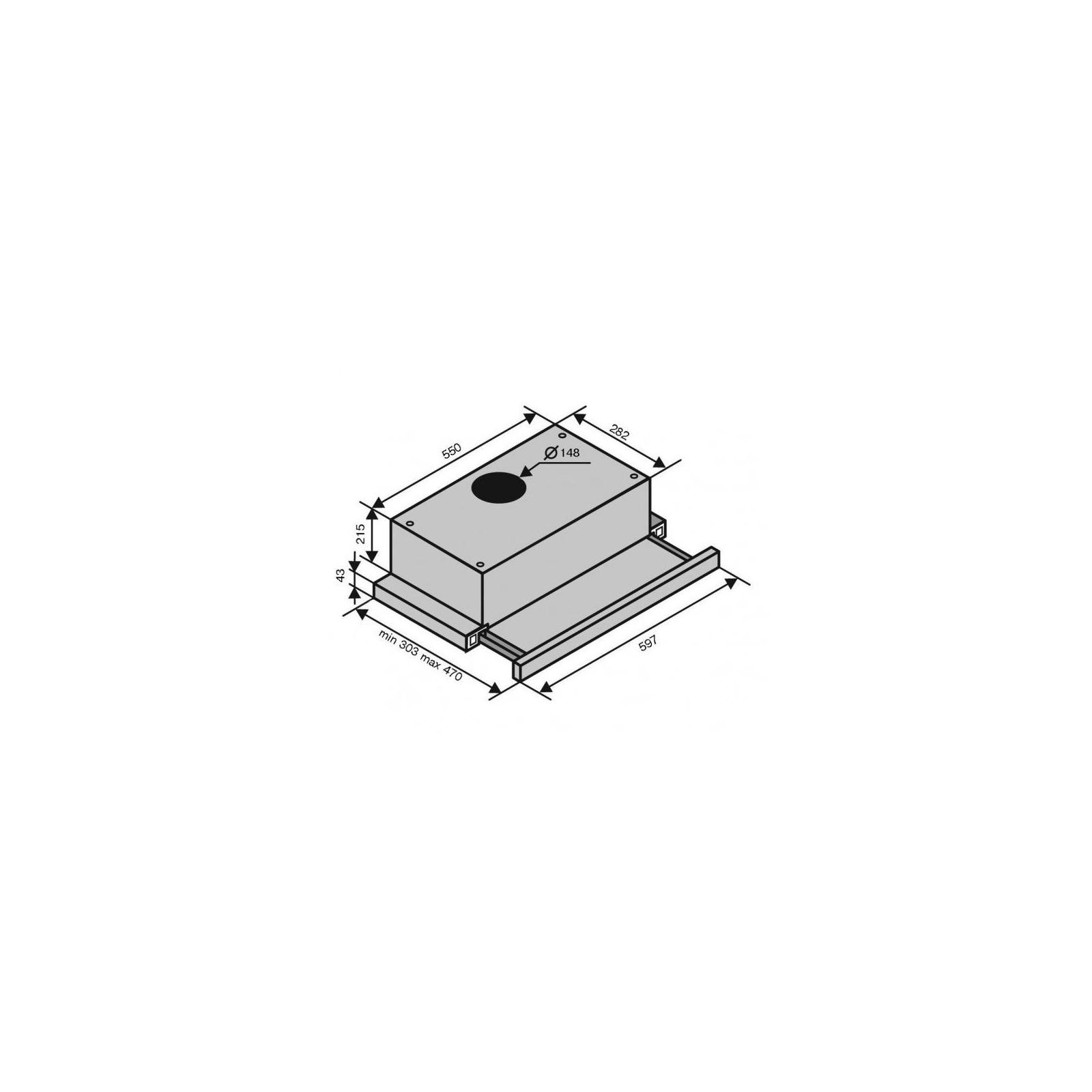 Вытяжка кухонная VENTOLUX GARDA 60 BG (1000) LED изображение 6