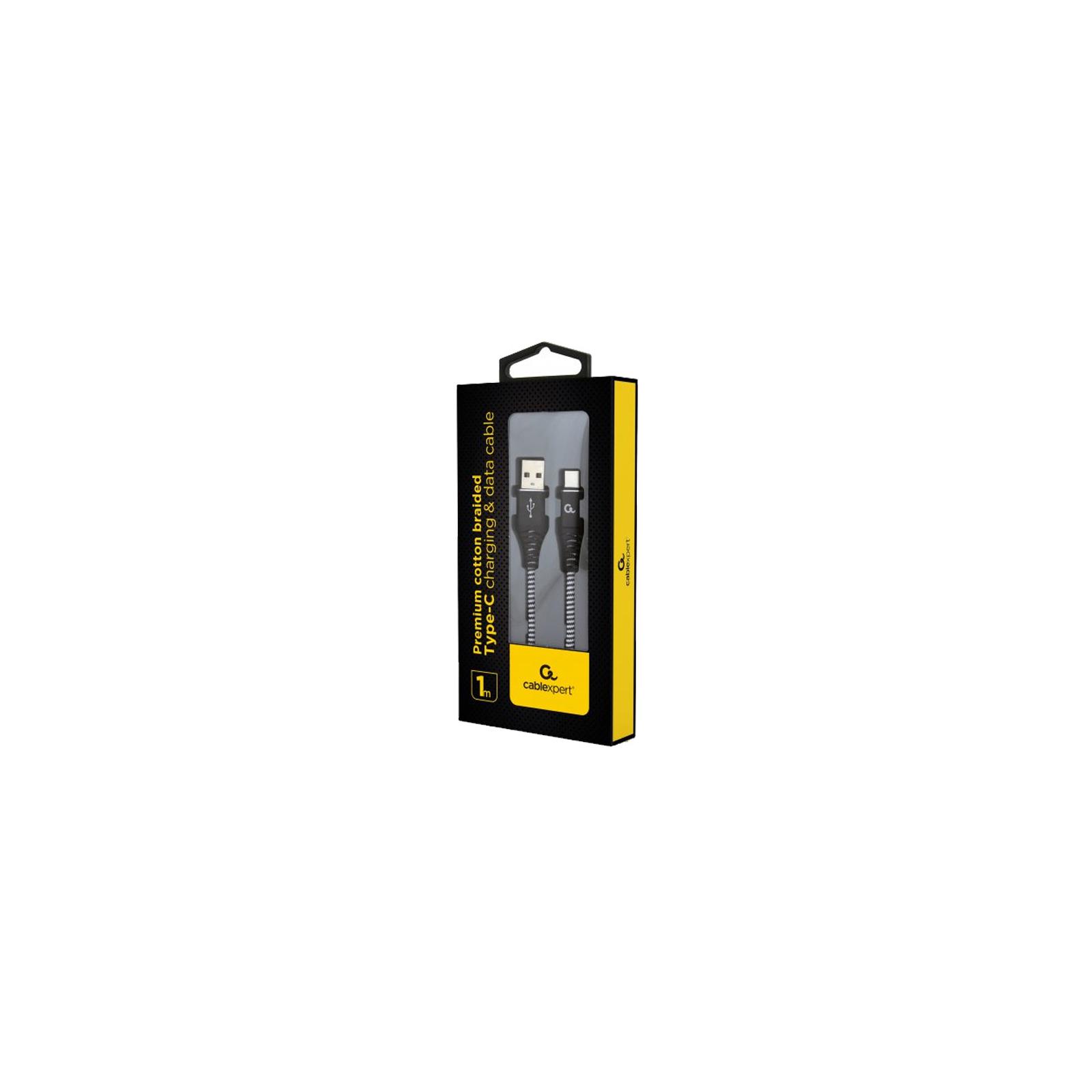 Дата кабель USB 2.0 AM to Type-C 1.0m Cablexpert (CC-USB2B-AMCM-1M-BW) изображение 2