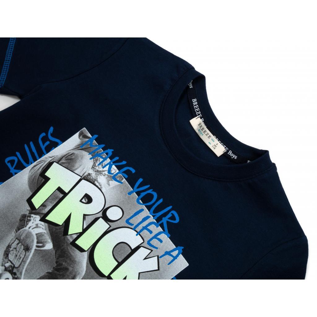 """Футболка детская Breeze """"TRICK"""" (15692-134B-blue) изображение 3"""