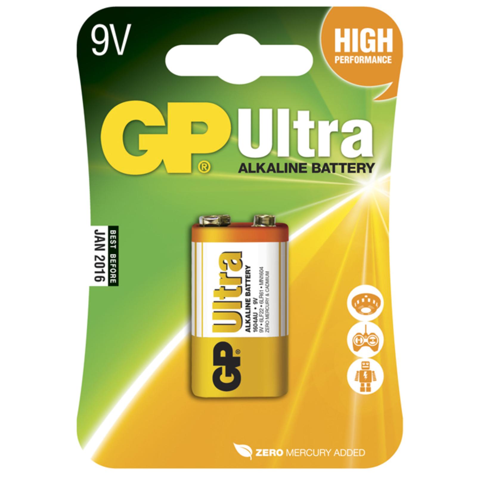 Батарейка GP Крона Ultra Alcaline 6LF22 9V * 1 (GP1604AU-5UE1)