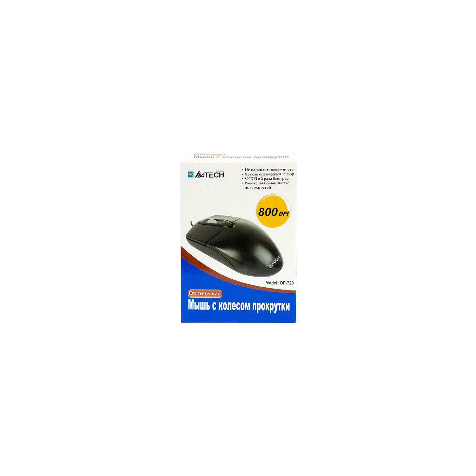 Мышка OP-720 A4-tech (OP-720 BLACK-PS) изображение 3