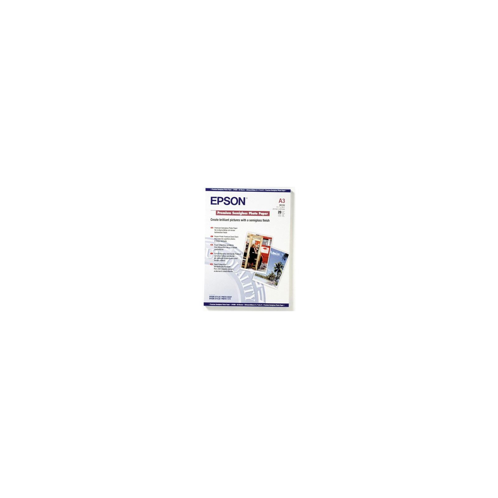 Бумага EPSON A3 Premium Semigloss Photo (C13S041334)