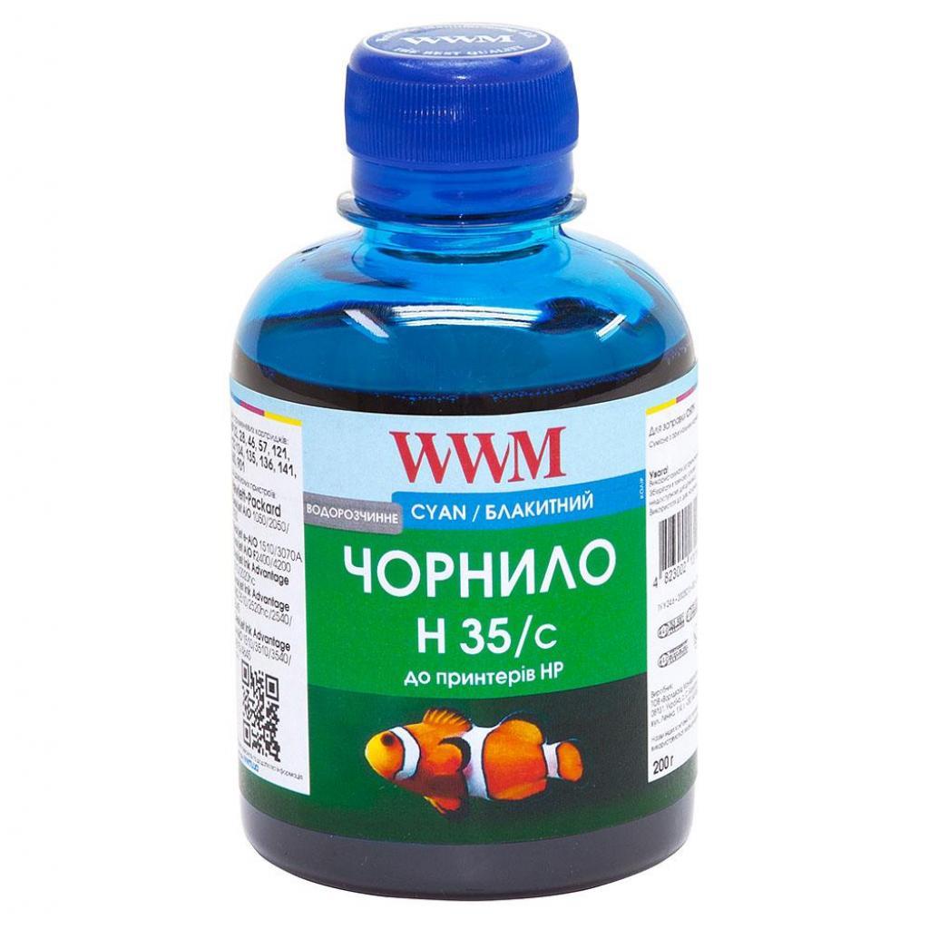 Чернила WWM HP № 22/121/134/135/136/141 cyan (H35/C)