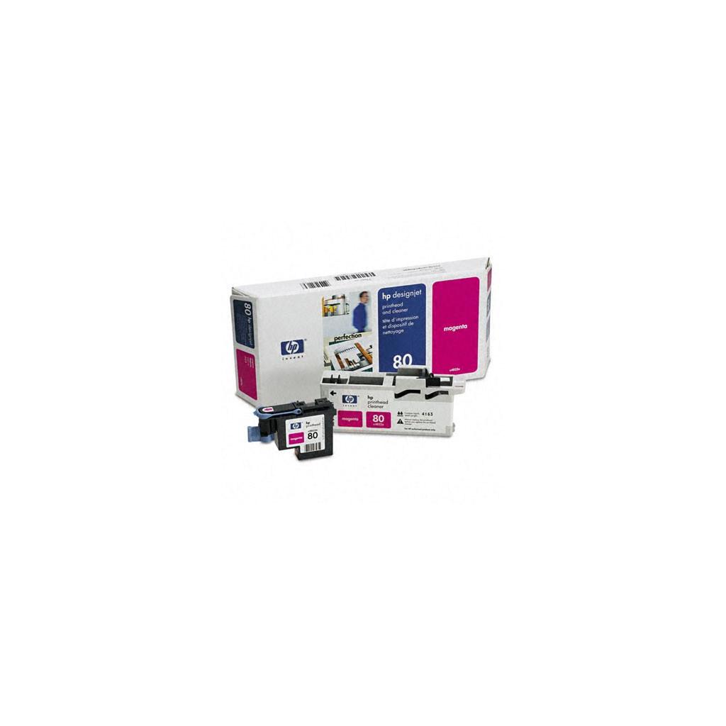 Печатающая головка HP №80 DesignJ1050/1055 magent+Cleaner (C4822A)