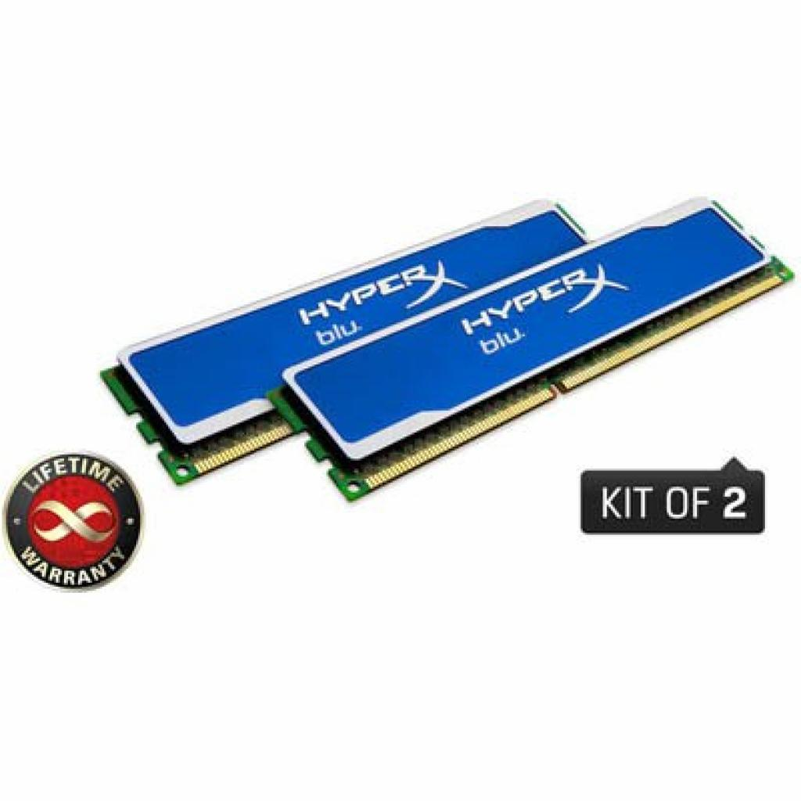 Модуль памяти для компьютера DDR3 16GB (2x8GB) 1600 MHz Kingston (KHX1600C10D3B1K2/16G)