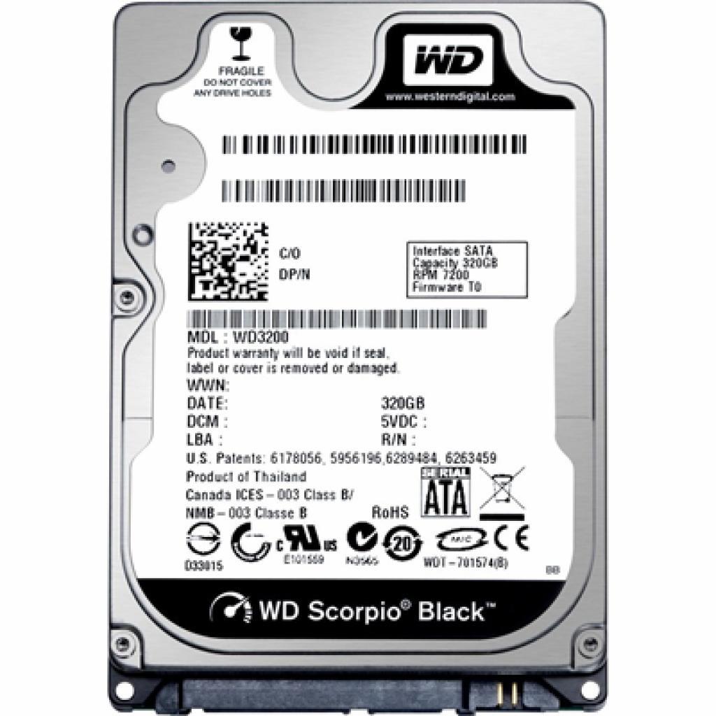 "Жесткий диск для ноутбука 2.5"" 320GB Western Digital (WD3200BEKX)"