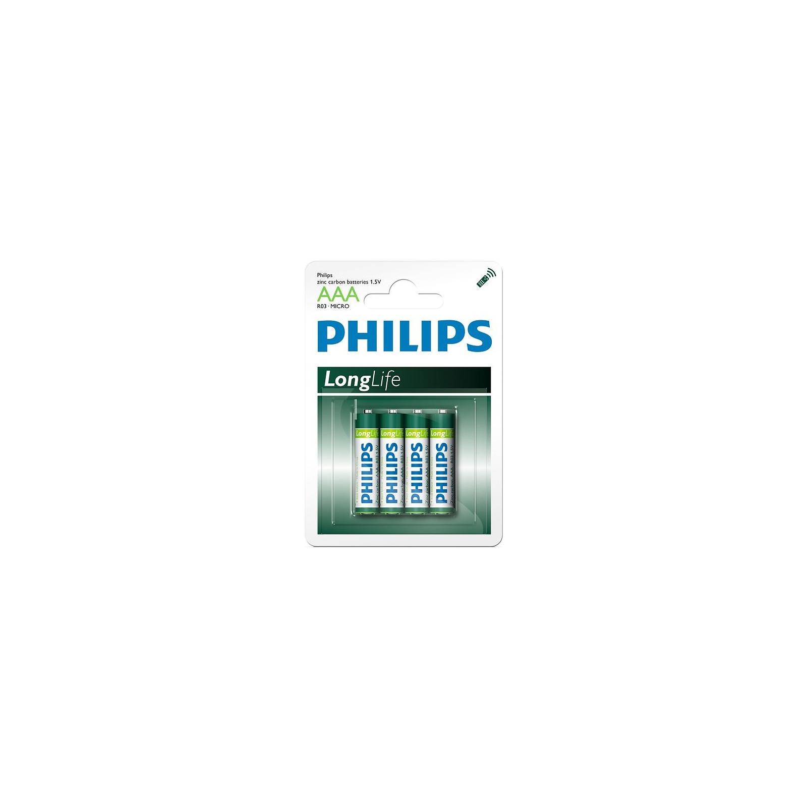 Батарейка PHILIPS R03 PHILIPS LongLife L4B* 4 (R03L4B/97)