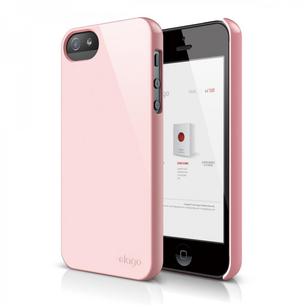 Чехол для моб. телефона ELAGO для iPhone 5 /Slim Fit 2 Glossy/Lovely Pink (ELS5SM2-UVLPK-RT)