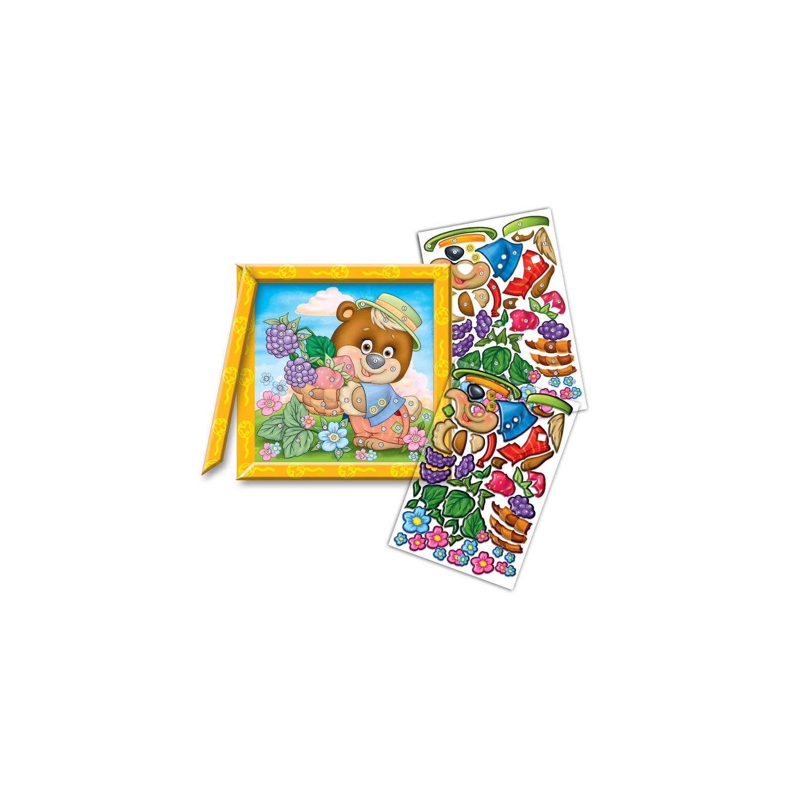 Набор для творчества Vladi Toys Кристалл картина Мишка с лукошком (VT4010-01) изображение 2