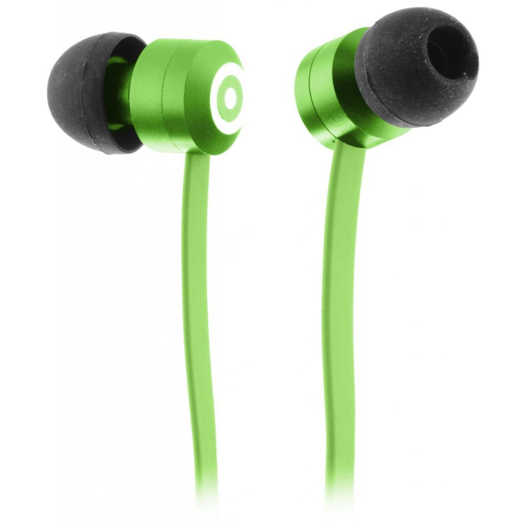 Наушники KitSound KS Ribbons In-Ear Earphones with Mic Green (KSRIBGN)