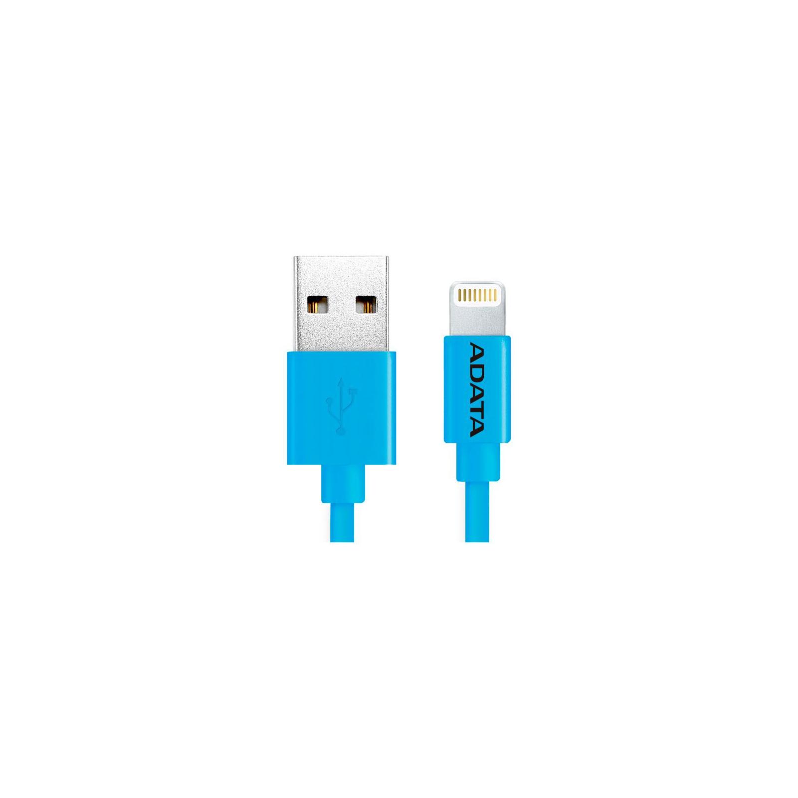 Дата кабель USB 2.0 AM to Lightning 1.0m MFI Blue ADATA (AMFIPL-100CM-CBL) изображение 2