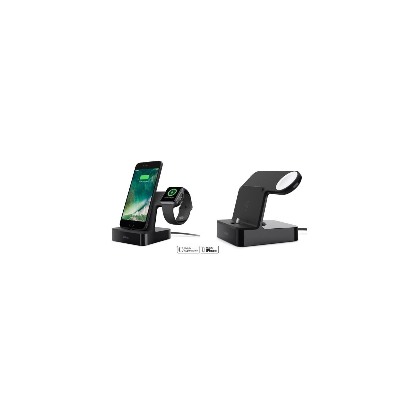 Док-станция Belkin PowerHouse iWatch + iPhone, black (F8J200vfBLK) изображение 3