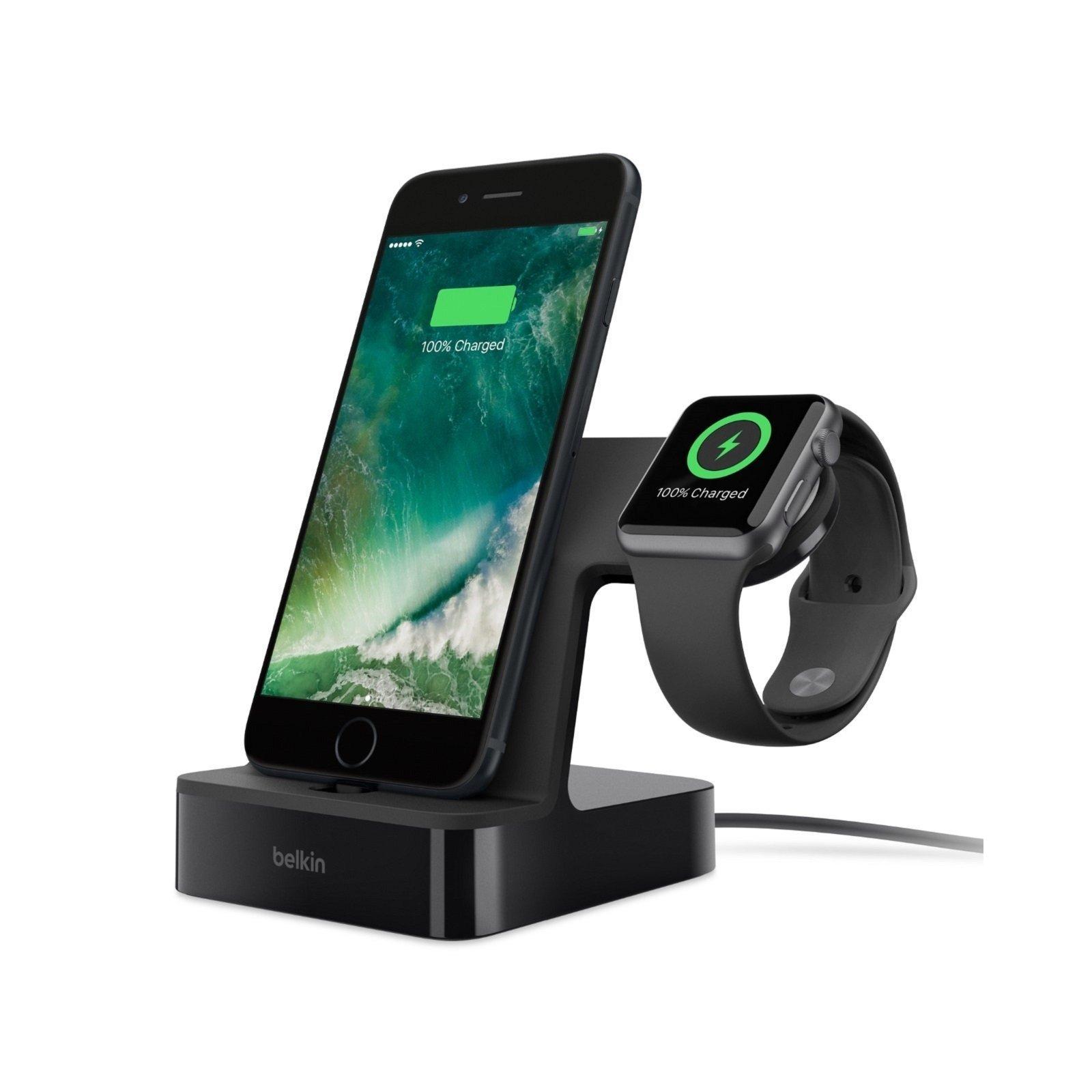 Док-станция Belkin PowerHouse iWatch + iPhone, black (F8J200vfBLK)