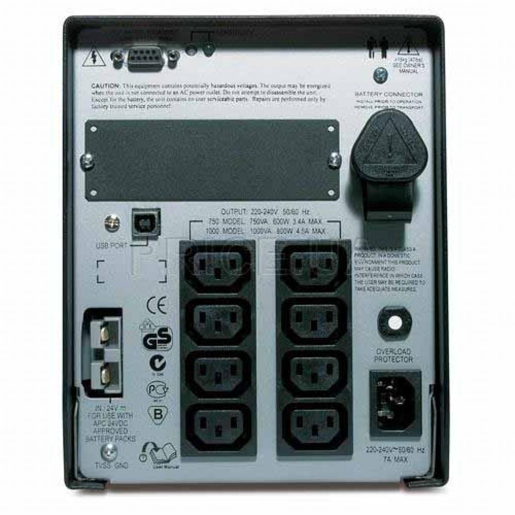 Источник бесперебойного питания Smart-UPS XL 1000VA APC (SUA1000XLI) изображение 2