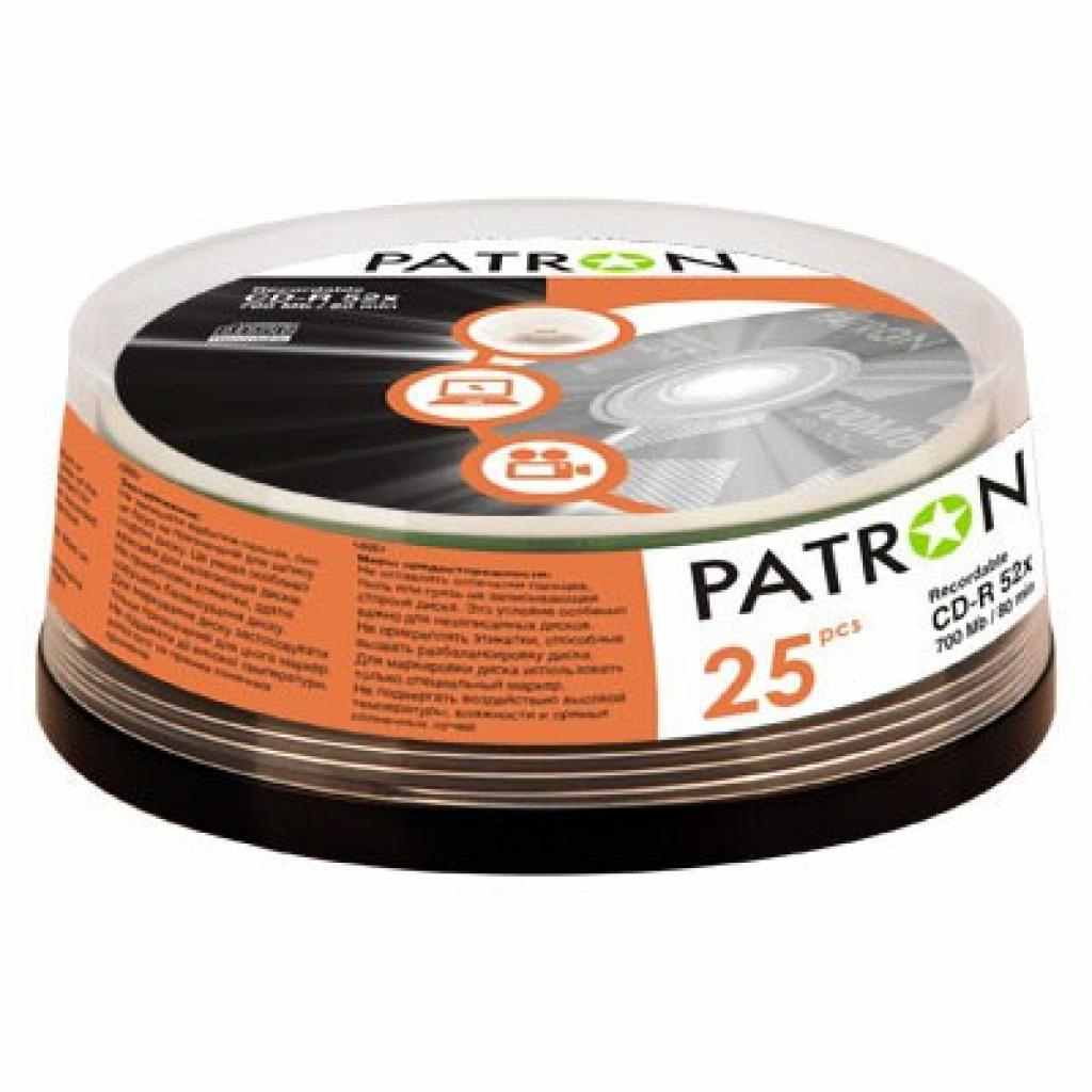 Диск CD PATRON 700Mb 52x Cake box 25шт (INS-C005)