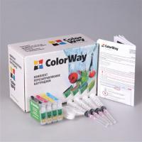 Комплект перезаправляемых картриджей ColorWay Epson S22/SX125/130/420 (4х100мл) (SX130RC-4.1)