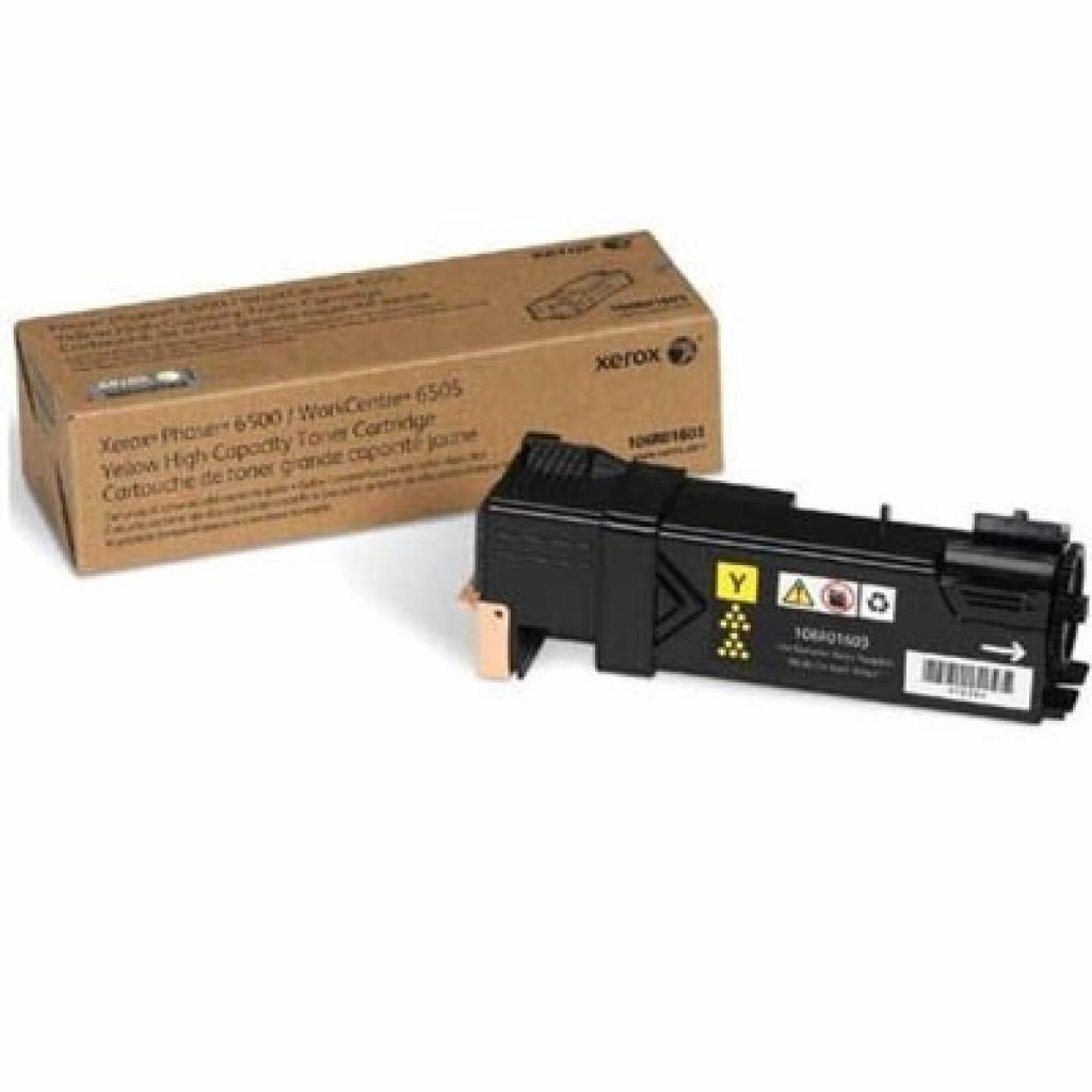 Тонер-картридж Xerox PH6500/WC6505 Yellow (106R01600)