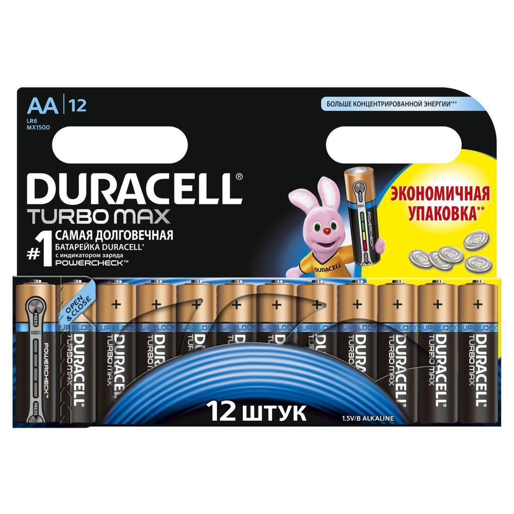 Батарейка Duracell AA TURBO MAX LR06 MN1500 * 12 (5000394044159 / 81528443)