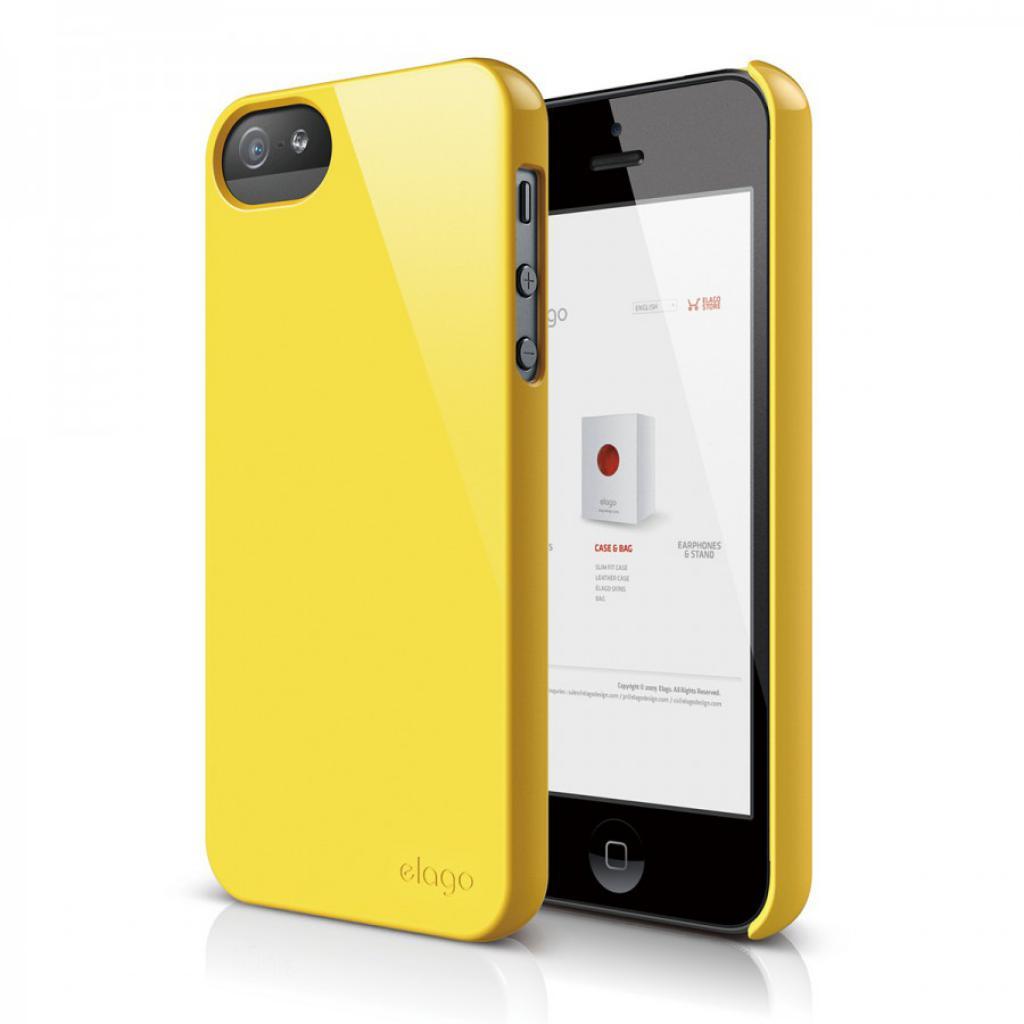 Чехол для моб. телефона ELAGO для iPhone 5 /Slim Fit 2 Glossy/Sport Yellow (ELS5SM2-UVYE-RT)