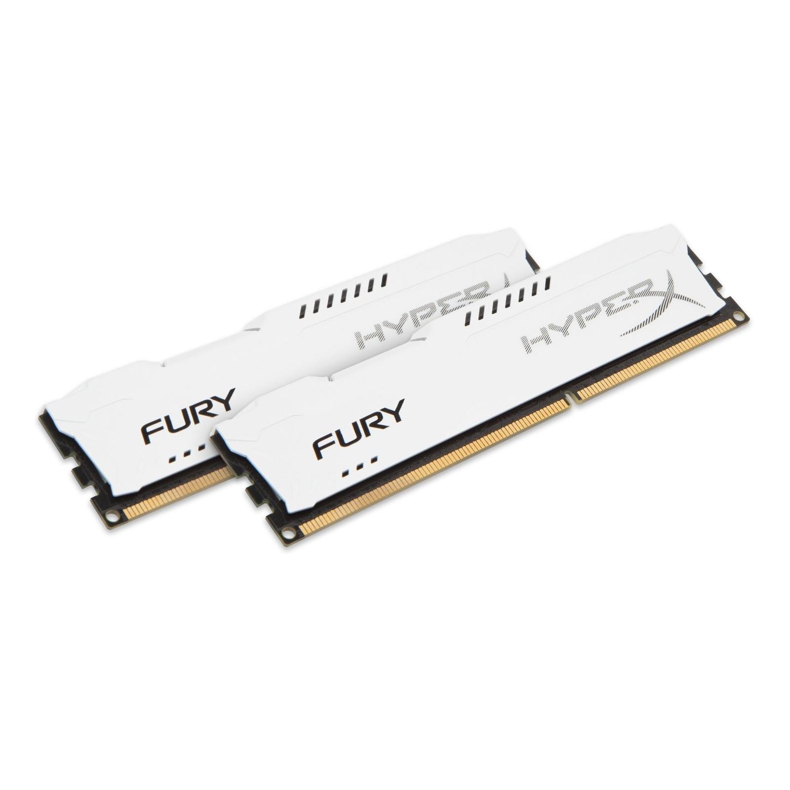 Модуль памяти для компьютера DDR3 8Gb (2x4GB) 1600 MHz HyperX Fury White Kingston (HX316C10FWK2/8) изображение 2