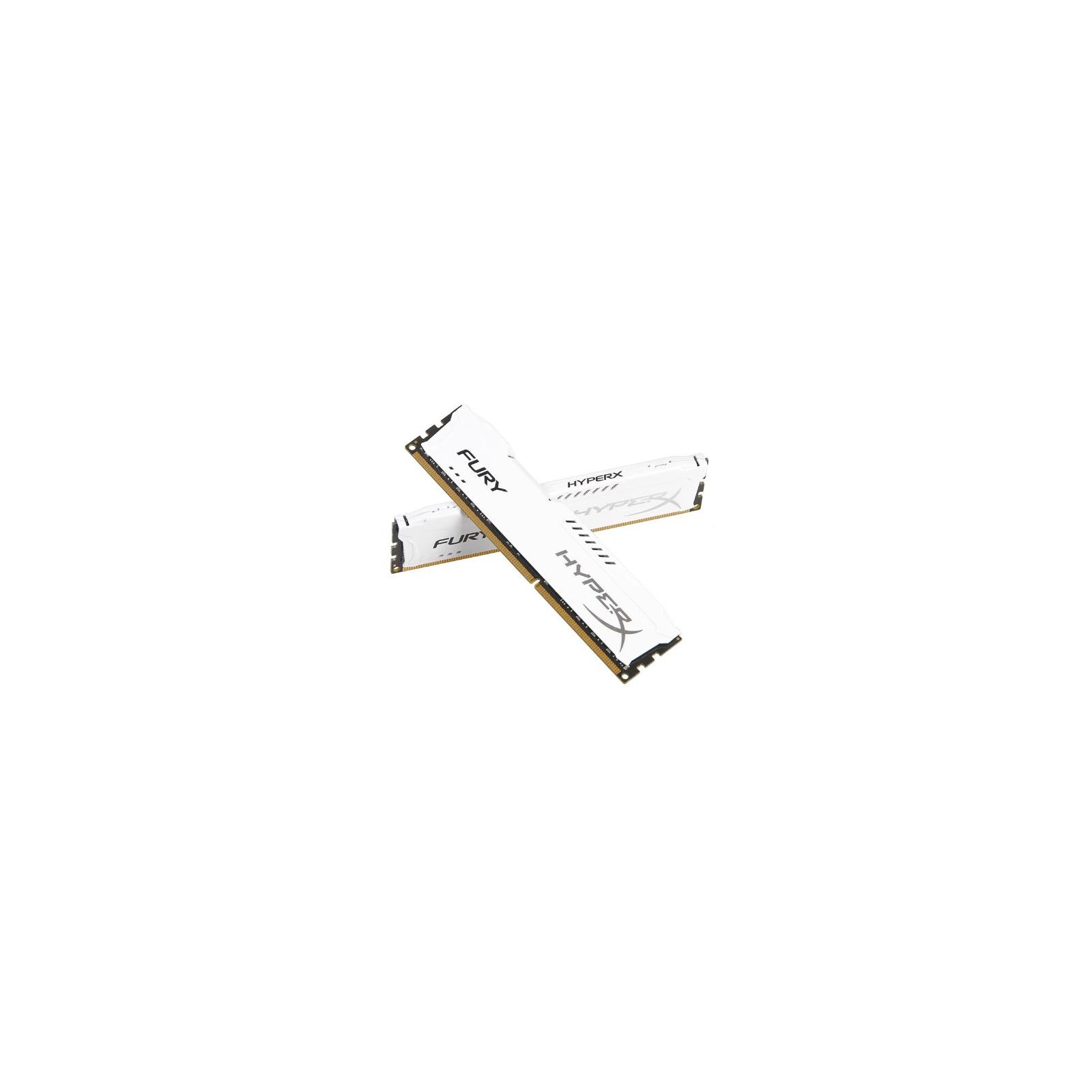 Модуль памяти для компьютера DDR3 8Gb (2x4GB) 1600 MHz HyperX Fury White Kingston (HX316C10FWK2/8) изображение 3