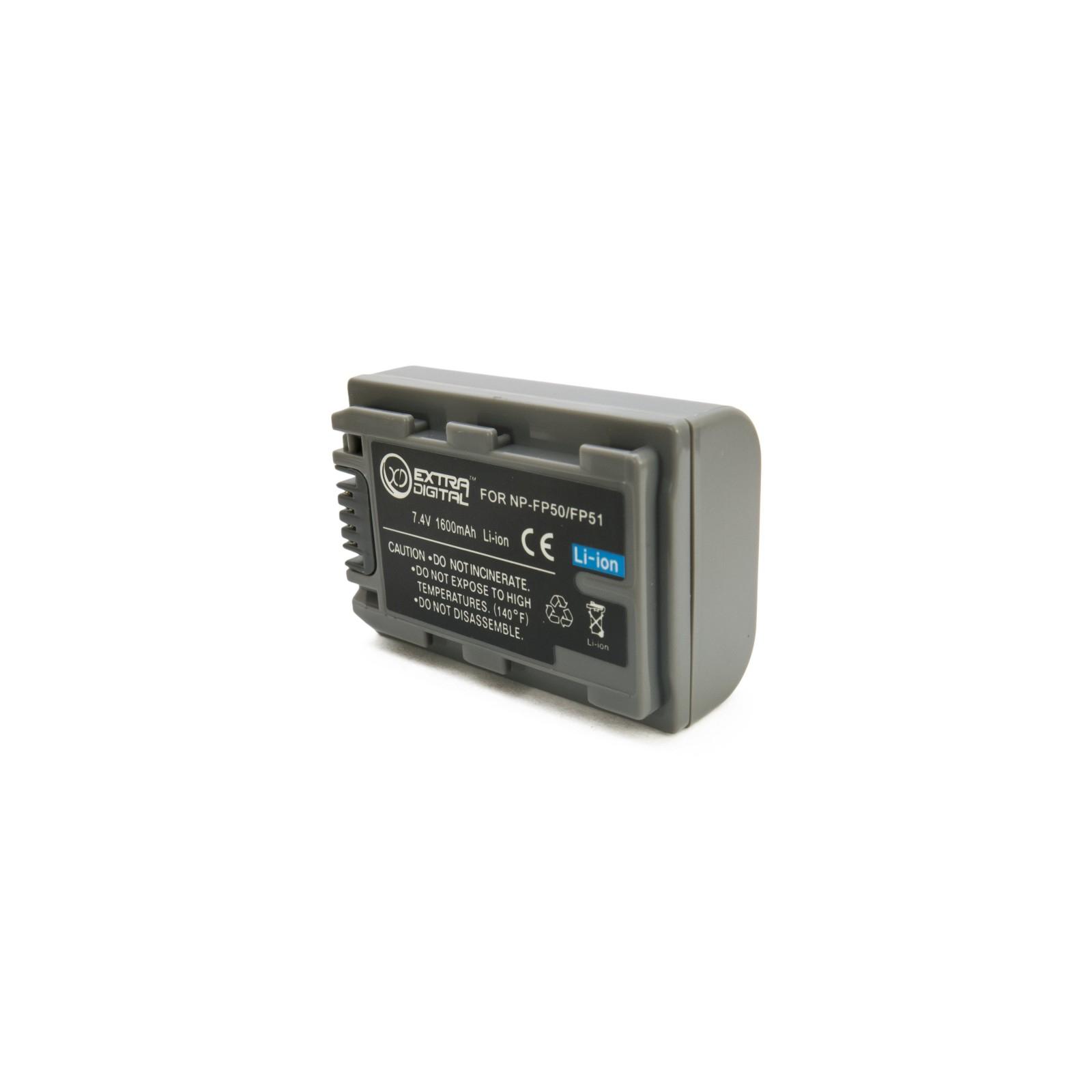 Аккумулятор к фото/видео EXTRADIGITAL Sony NP-FP50 (BDS2667) изображение 2