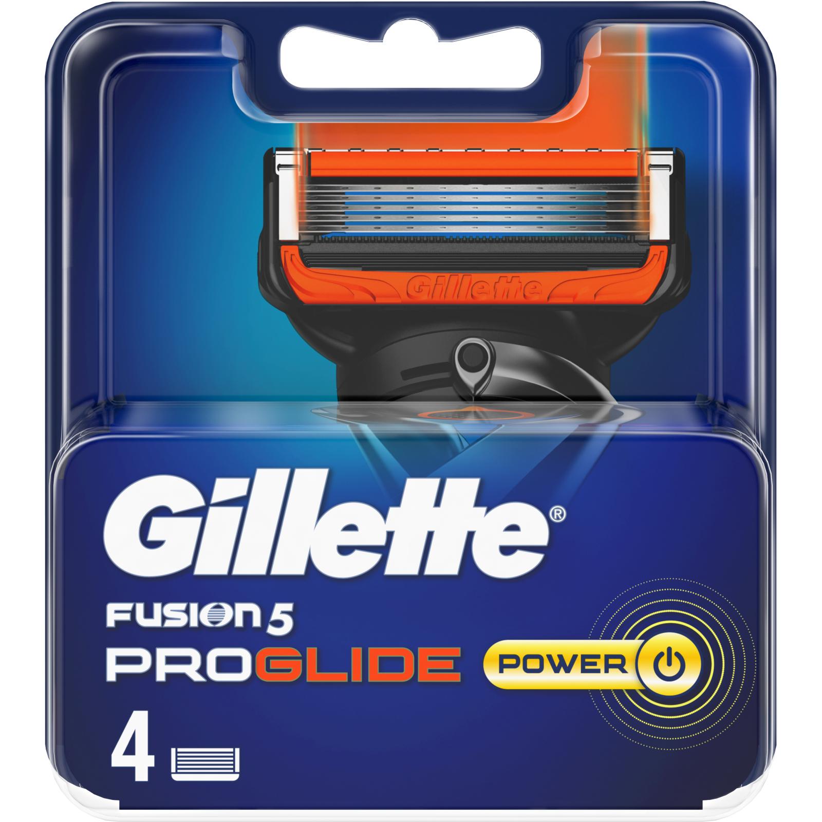 Сменные кассеты Gillette Fusion ProGlide Power 4 шт (7702018085576) изображение 2