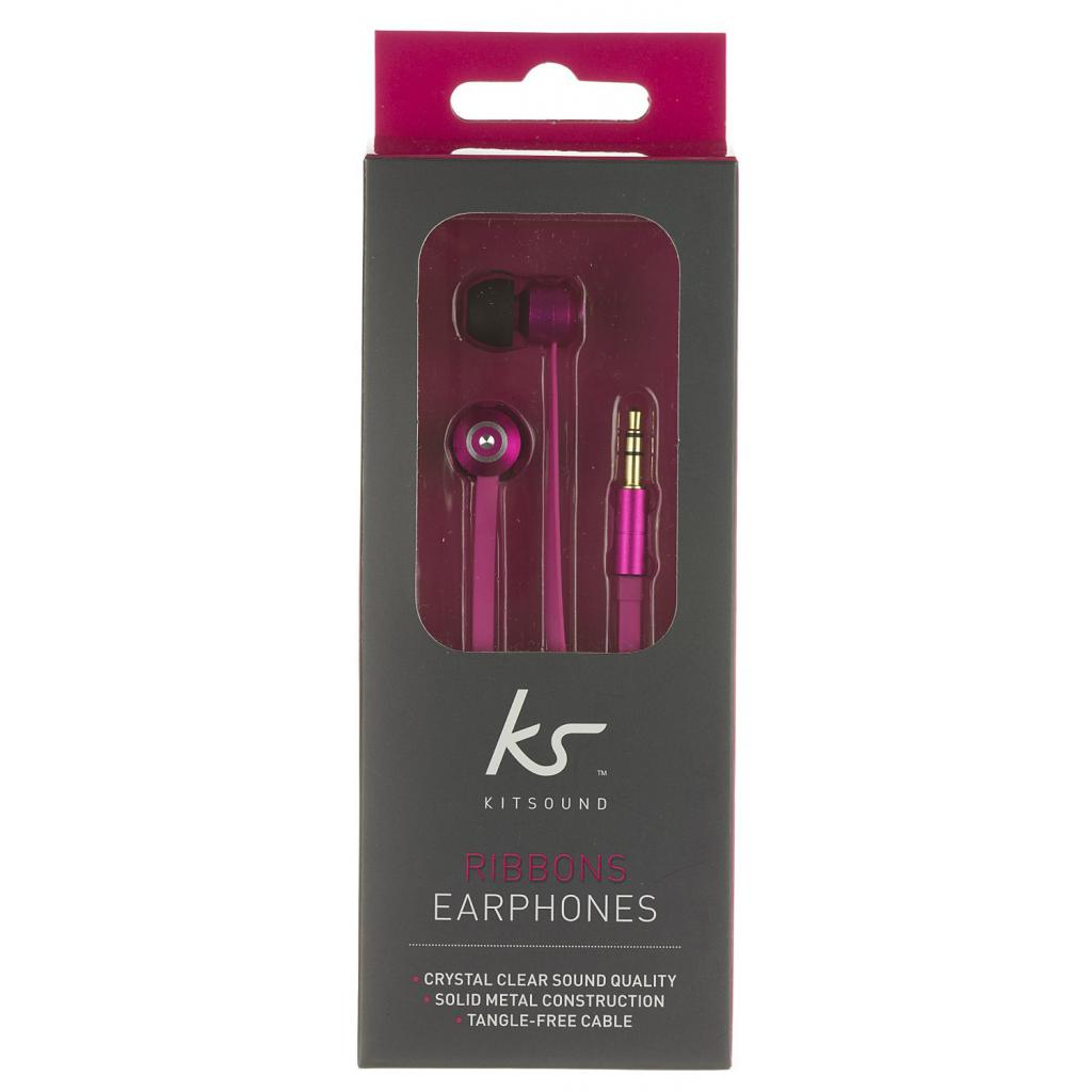 Наушники KitSound KS Ribbons In-Ear Earphones with Mic Pink (KSRIBPI) изображение 10