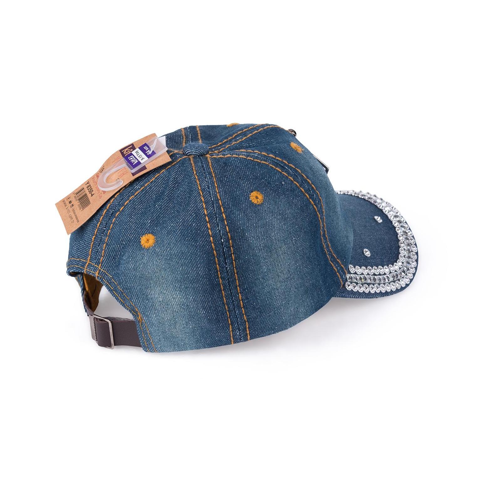 Кепка Kitti джинсовая со стразами (Y8350-4-54G-darkblue) изображение 2