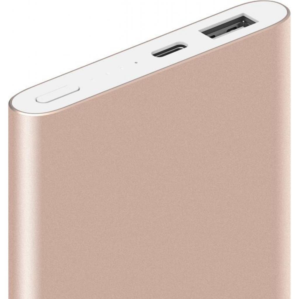 Батарея универсальная Xiaomi Mi Power bank Pro 10000mAh Type-C QC3.0 Gold (VXN4195US) изображение 4