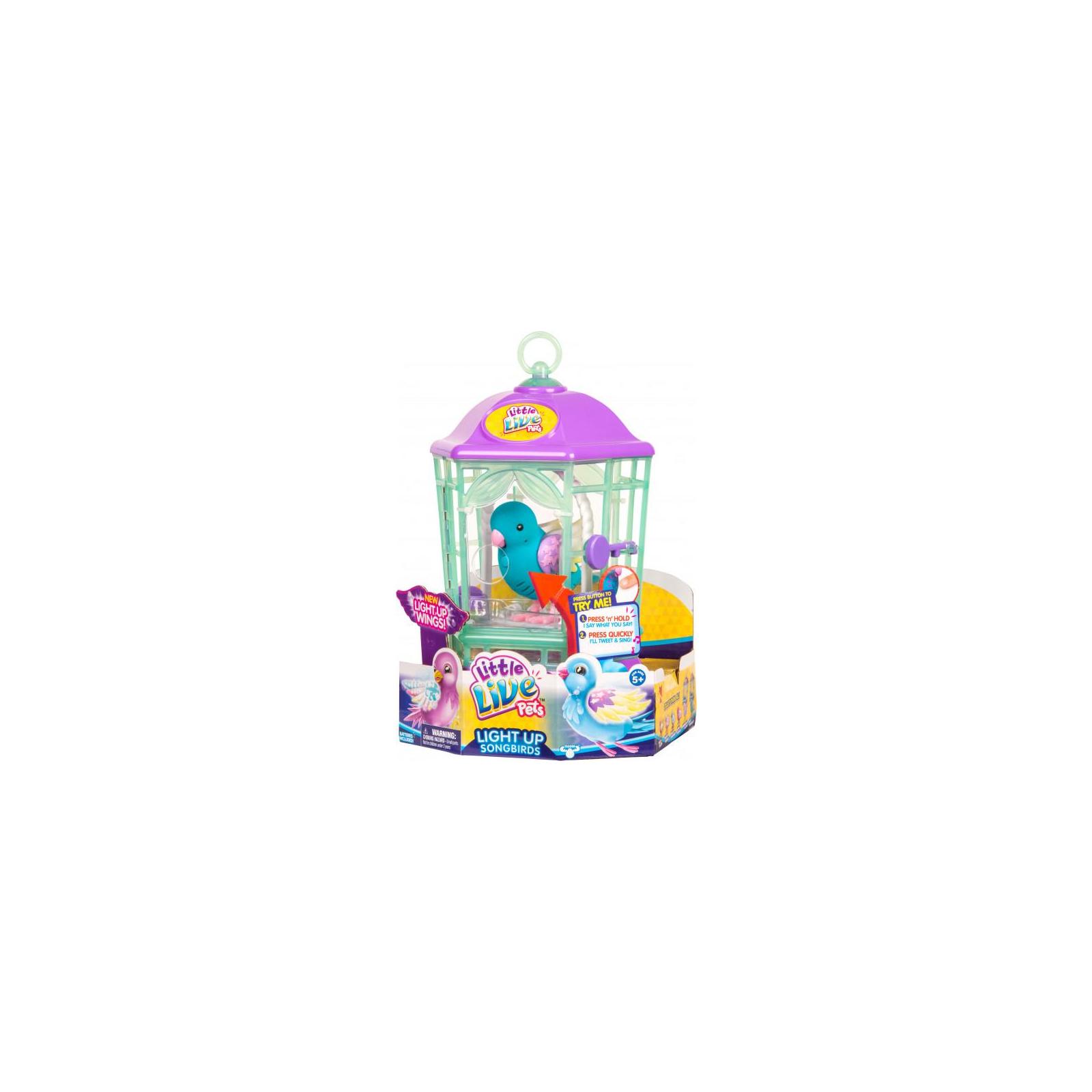 Интерактивная игрушка Moose Птичка в клетке Little Live Pets Skye Twinkles (28548) изображение 5