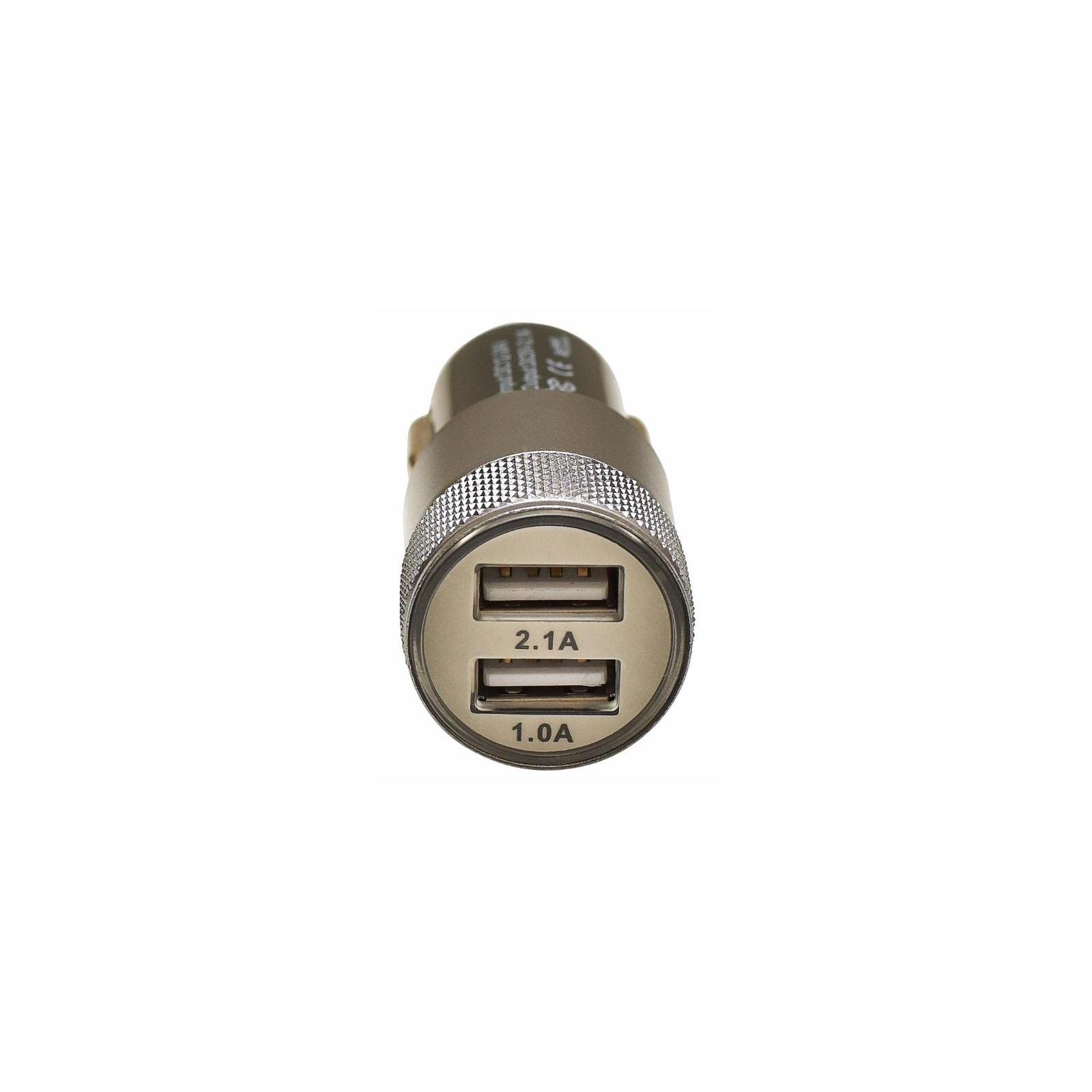 Зарядное устройство Grand-X 2xUSB 5V/2.1A + DC cable 2,2А USB/Micro USB 1m (CH-25BM) изображение 2