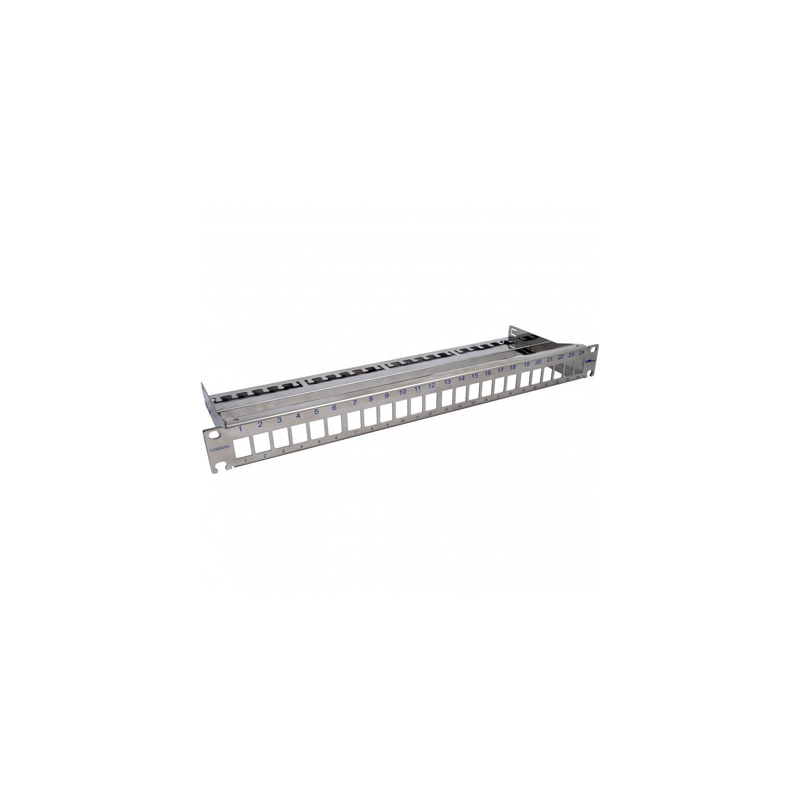 """Патч-панель Corning 19"""" 1U для 24 модуля Kyestone, с организатором кабеля (CAXXSV-02400-C001)"""
